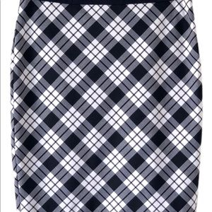 The Limited Skirts - 🆕 THE LIMITED NAVY WHITE PENCIL SKIRT SZ 6 TALL